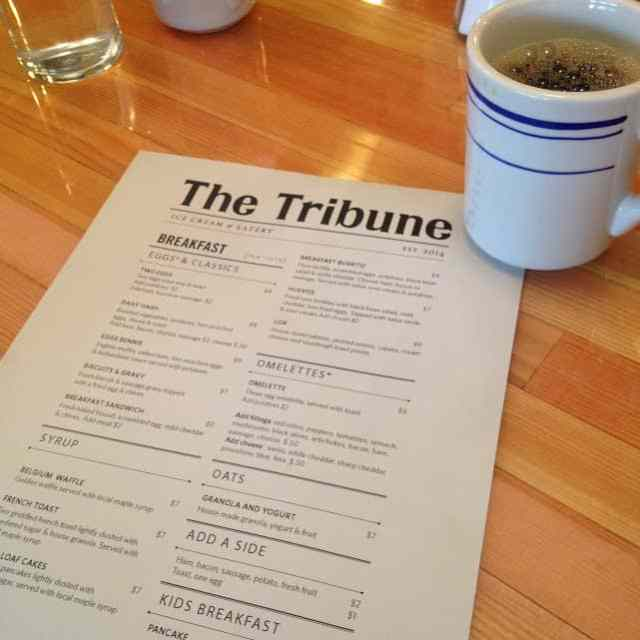 Breakfast at The Tribune in Northport, Michigan. #MittenTrip Leland - The Awesome Mitten