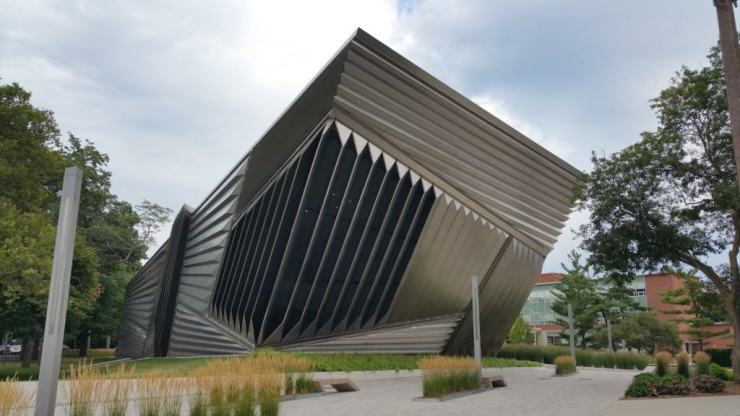 The MSU Broad Art Museum was given its unique shape by famous architect Zaha Hadid. Photo by Joel Heckaman - Awesome Mitten