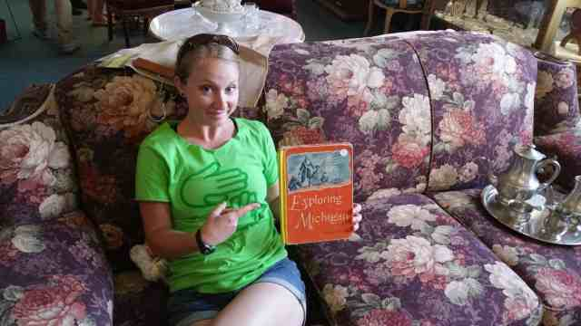 Explore Michigan book at a Saginaw antiques shop - #MittenTrip - Saginaw - The Awesome Mitten