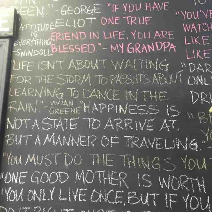 Quote Board at Angie's Attic