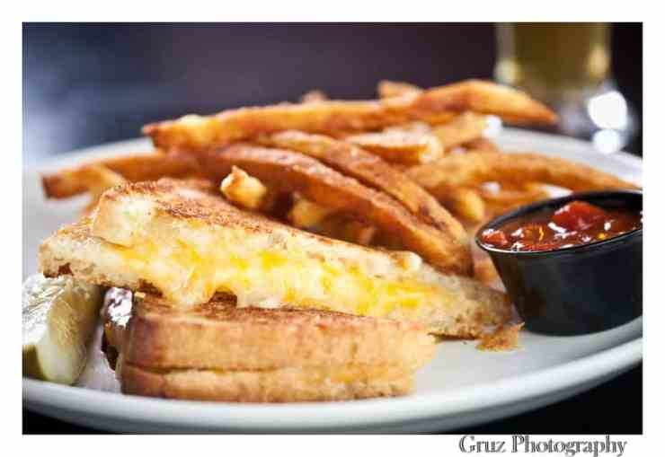 Ferndale's One-Eyed Betty's is known for its delicious burgers, but they also carry a classic grilled cheese, complete with tomato jam on the side.