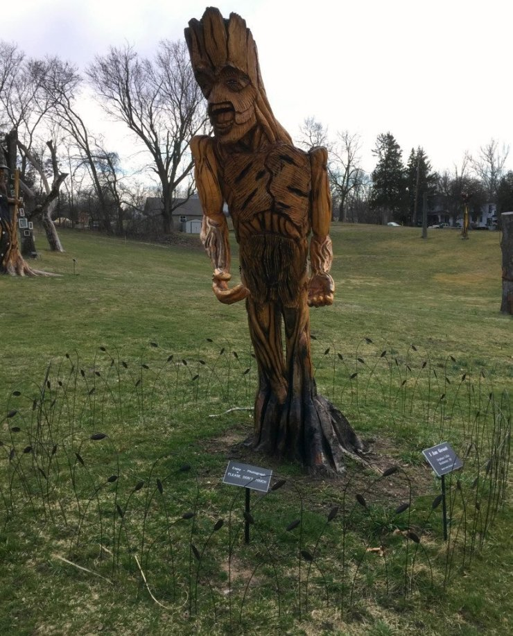 Among the residents of the Fantasy Forest is Groot from Guardians of the Galaxy. Photo by Rhonda Greene.