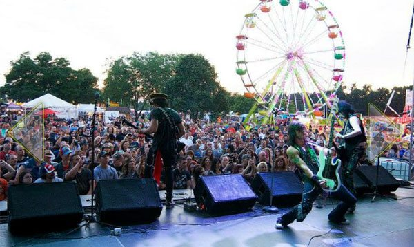 Rocking out at the Stars and Stripes Festival in Sterling Heights. Photo courtesy of Metro Parent