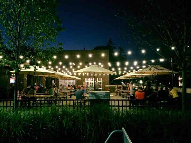Brown Iron Brewhouse is worth the drive to Washington Township for one of the best patios in Metro Detroit. Photo courtesy of The Source