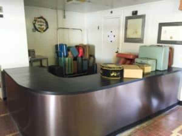 Baggage desk in the Main Lounge. Photo courtesy of Jennifer Polasek.