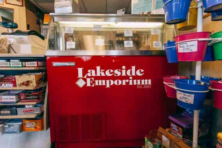 Lakeside Emporium counter | Photo by Gideon Hunter