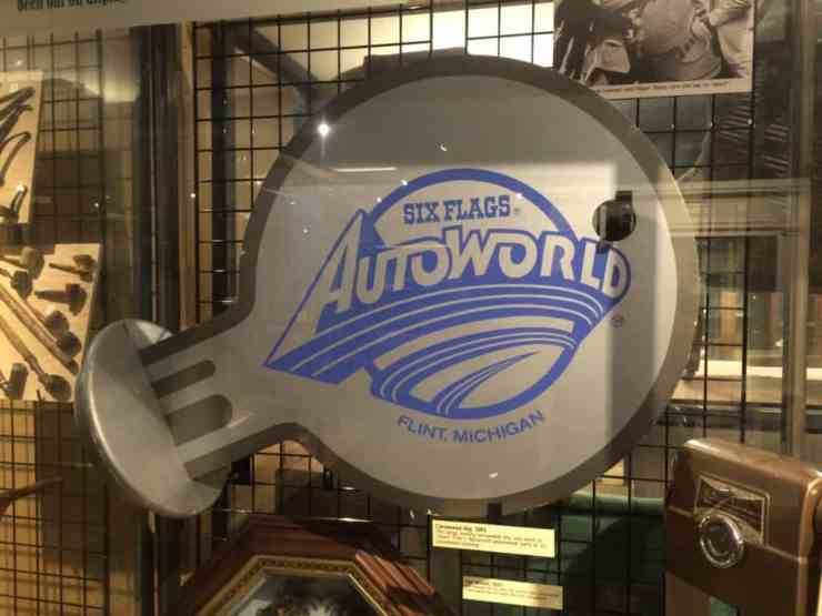 """AutoWorld artifact in the """"Collecting Flint from A to Z"""" at Sloan Museum. Photo courtesy of Joanna Dueweke."""