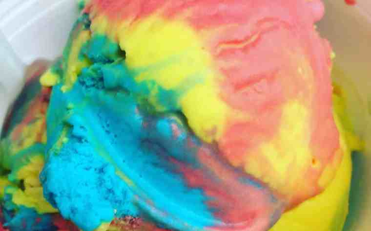 Rainbow Ice Cream from the Dairy Store at the Jackson County Fair