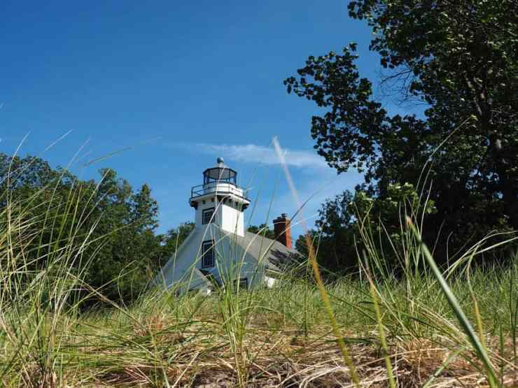 Mission Point Lighthouse, on the very tip of the Old Mission Peninsula, first opened in 1870. Photo by John Kalmar