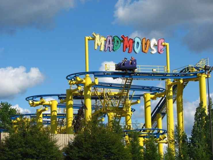 Mad Mouse roller coaster - Michigan's Adventure - Awesome Mitten