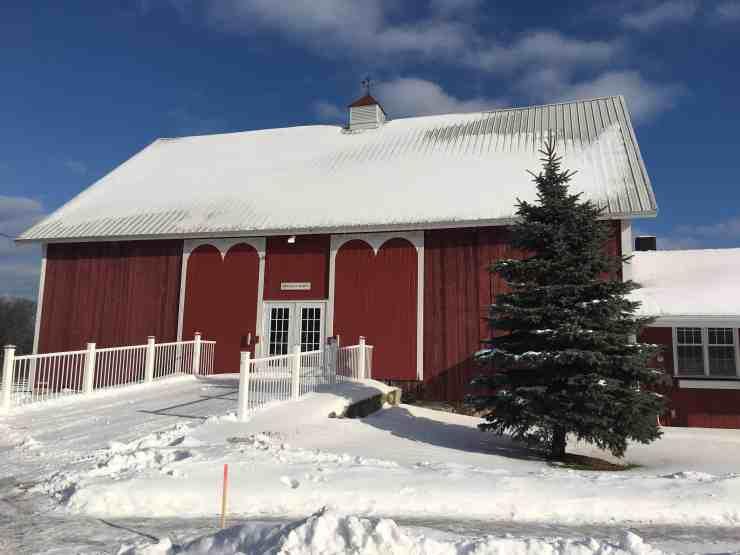 The Pegasus Barn always looks beautiful in the snow. Photo Courtesy of Jennifer Symons