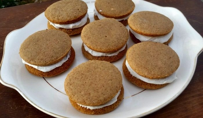 Gingerbread Whoopie Pies made with Vernors
