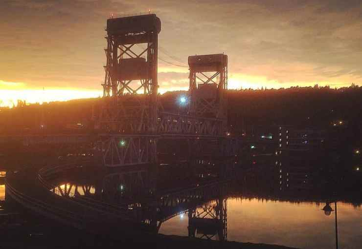 Portage Lake Lift Bridge in Houghton - Upper Peninsula Road Trip - The Awesome Mitten