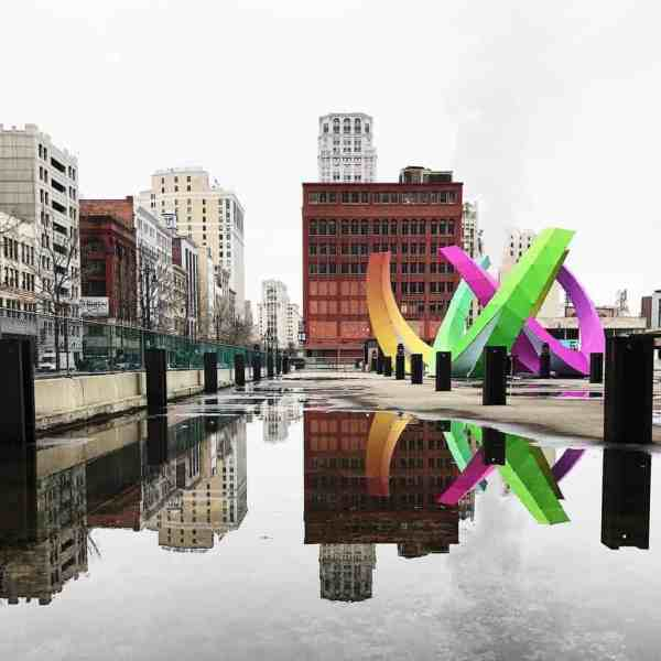 Downtown Detroit Public Art. Photo courtesy of seoung Instagram - The Awesome Mitten