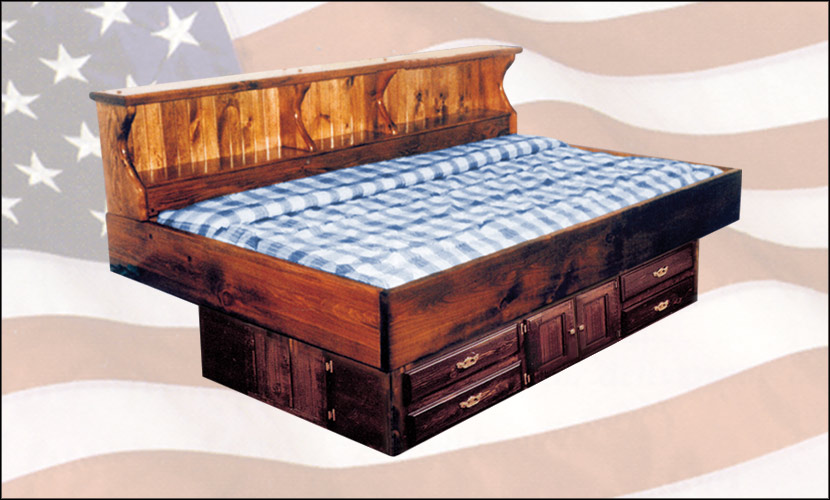 Waterbed Pine Youth Bed With Drawer Pedestal Super Single