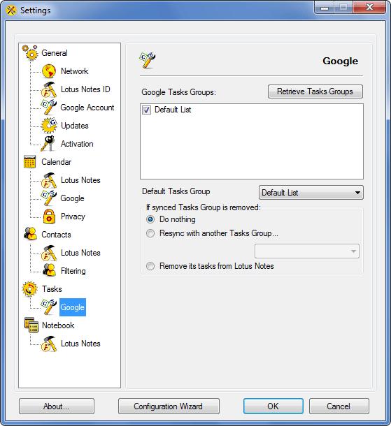 AweSync - Tasks Google Settings