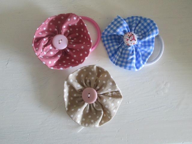 Fabric Flower Hair Bobble