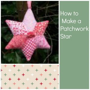 patchwork star christmas tree decoration fabric