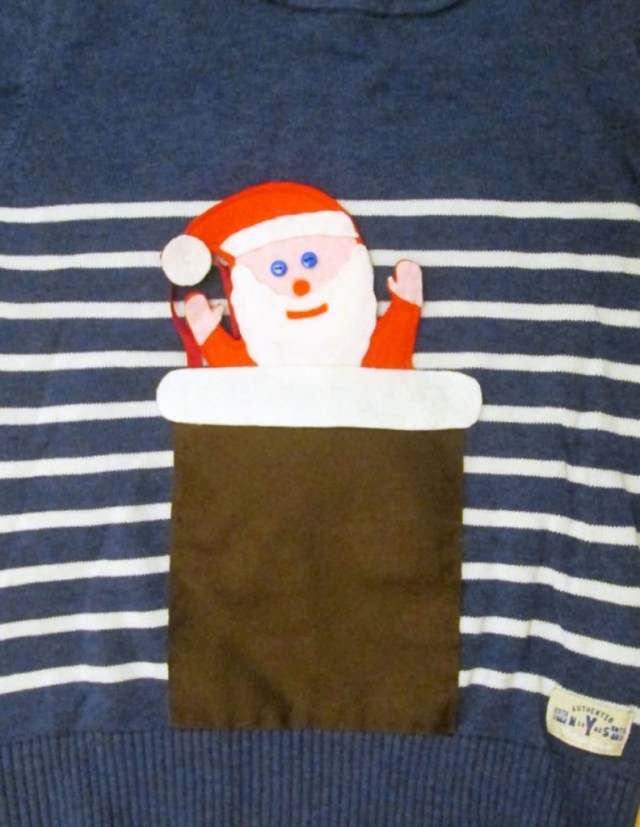 interactive diy christmas jumper