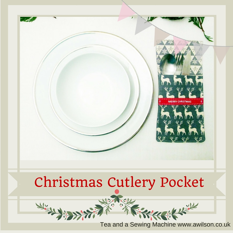 christmas cutlery pocket pouch holder