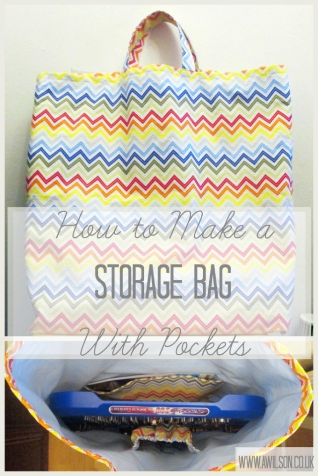 how to make a storage bag with pockets