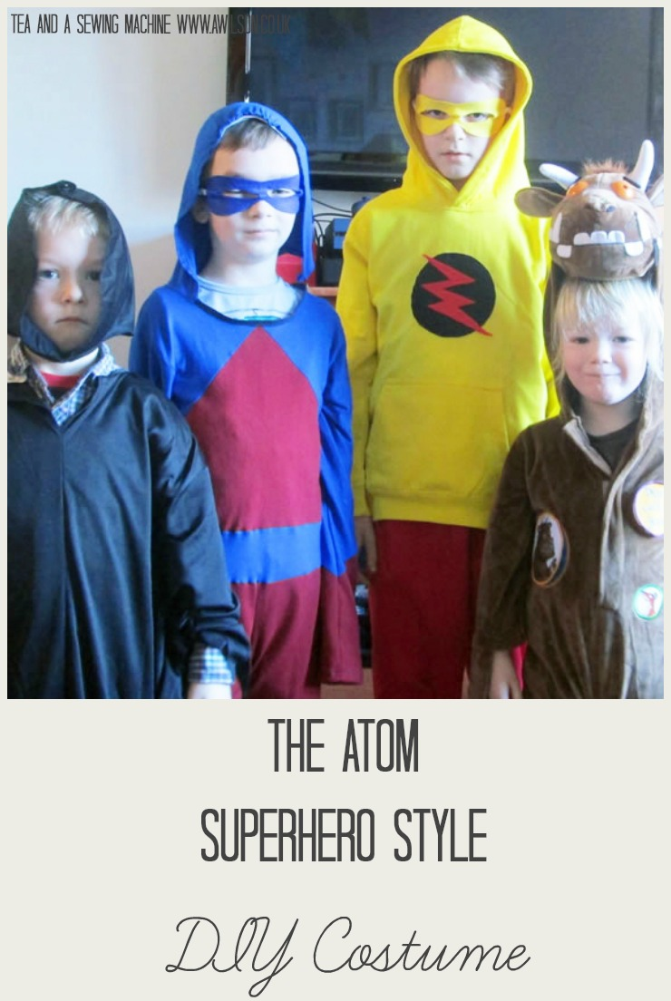 the atom superhero style diy costume