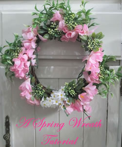 pink spring wreath