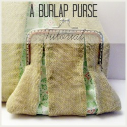 burlap purse square