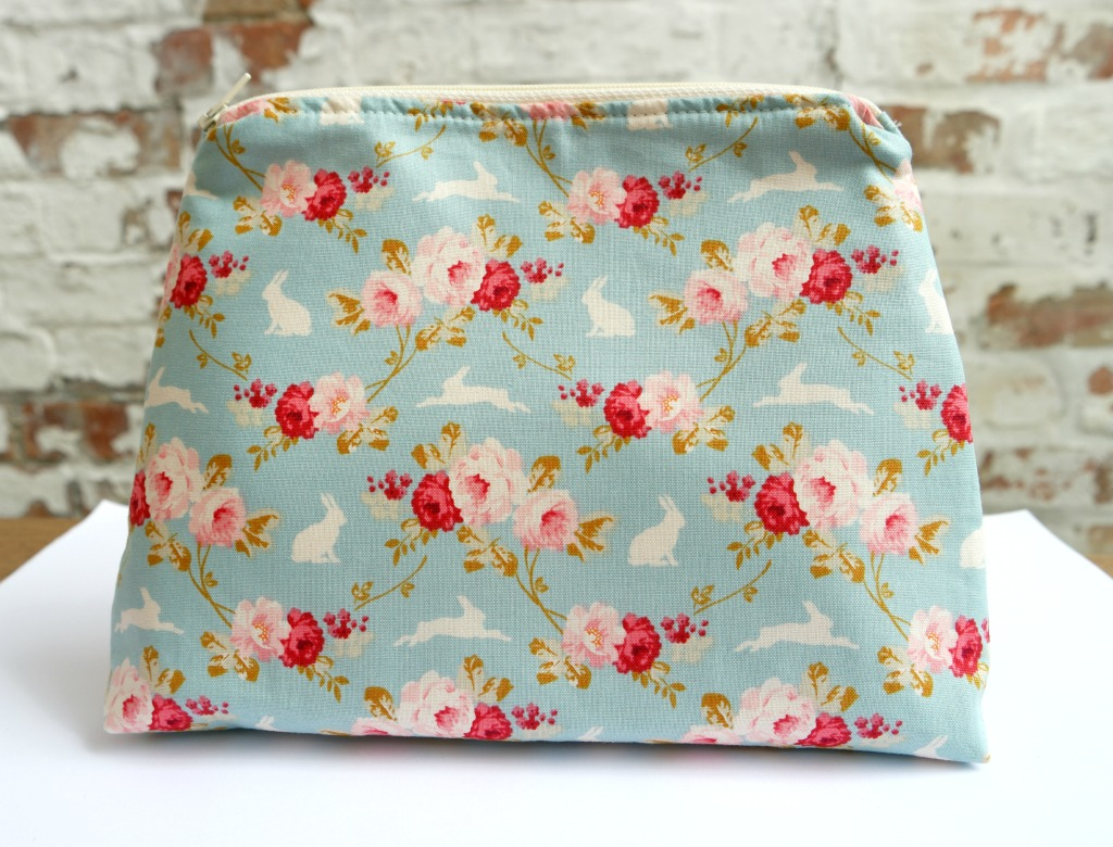 lined zippered pouch flat bottom tutorial how to