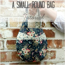 small round bag tutorial square