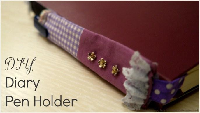 DIY Diary Pen Holder Scrap Project