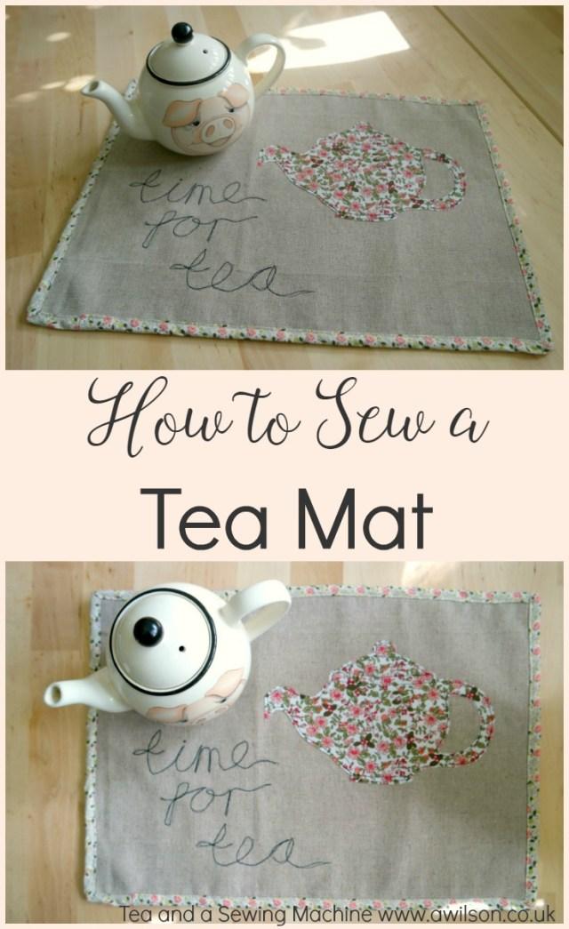 how to sew a tea mat tea tray liner