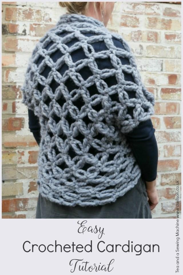 easy crocheted cardigan tutorial