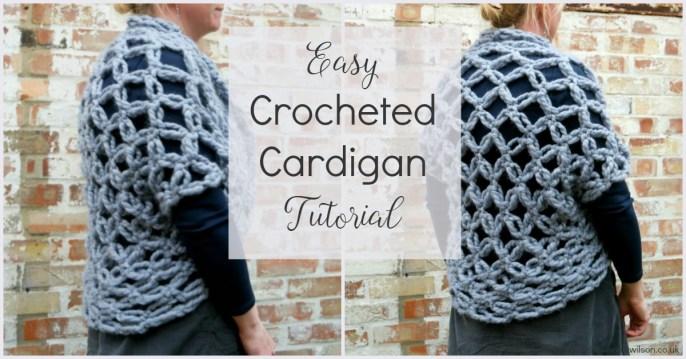 Easy Crocheted Cardigan Tutorial: Solomon's Knots