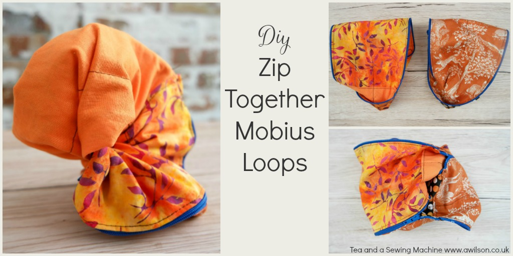 diy zip together mobius loops