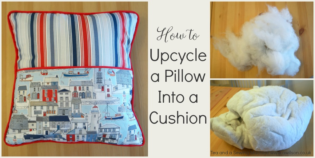 How to upcycle a pillow into a cushion