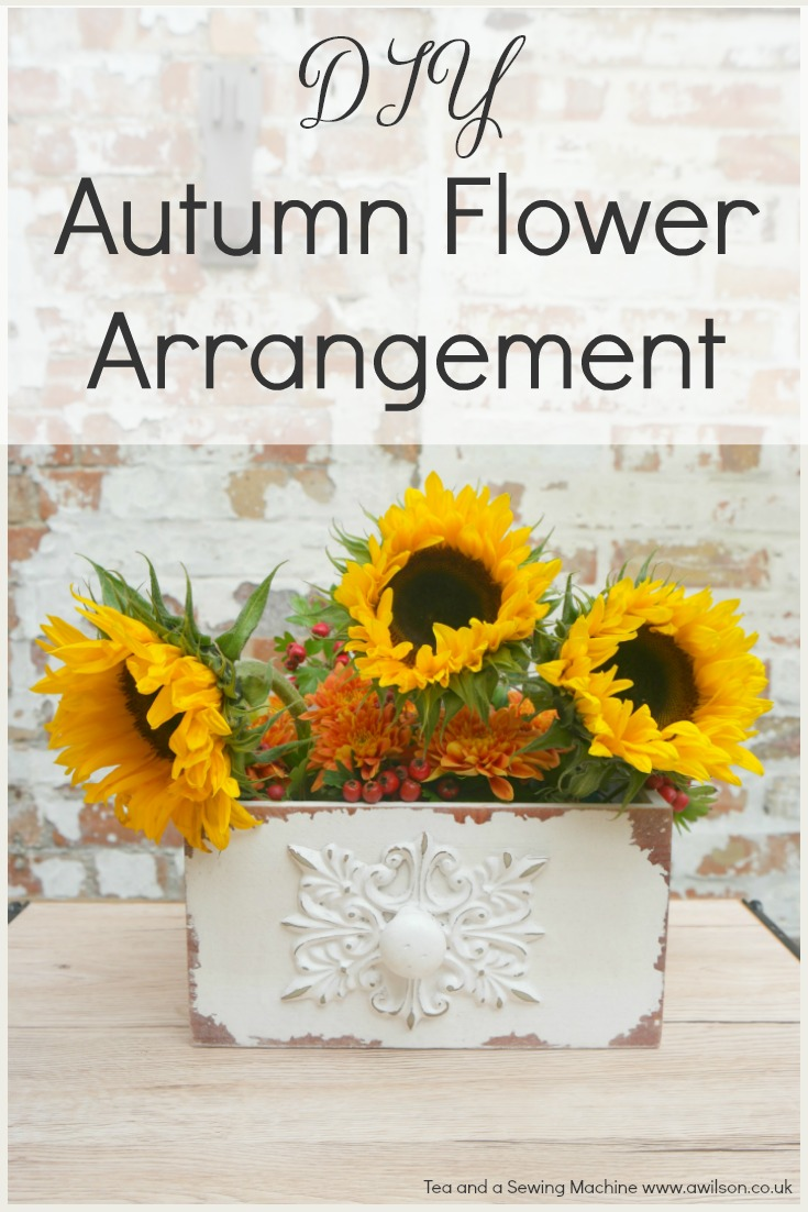 easy diy autumn flower arrangement
