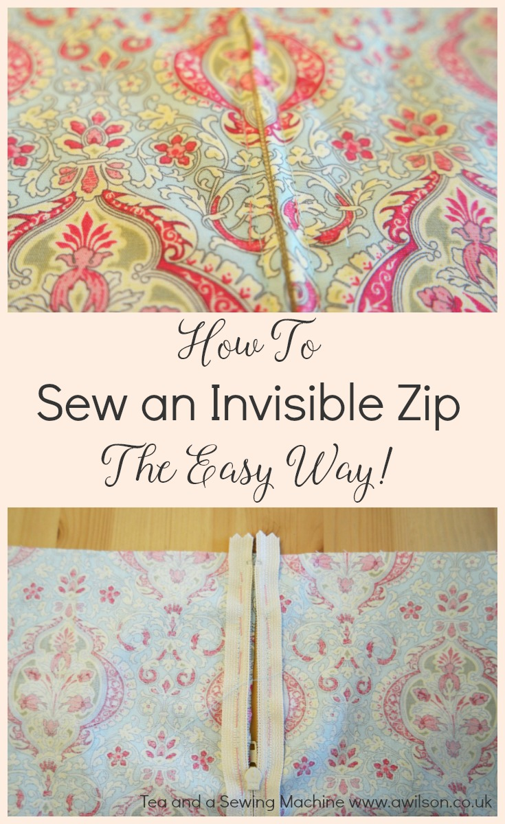 how to sew in an invisible zip the easy way