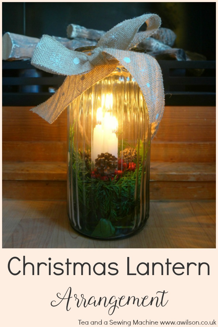 christmas lantern arrangement