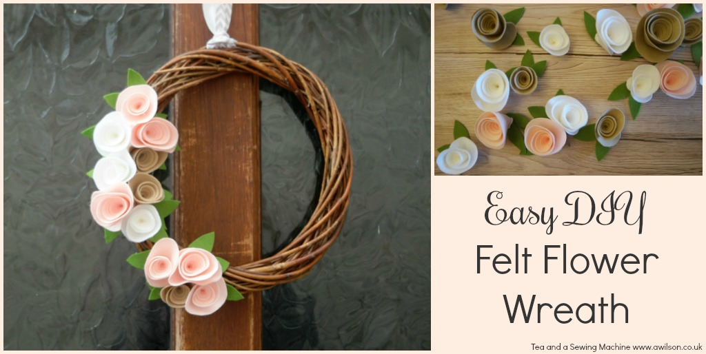 easy diy felt flower wreath