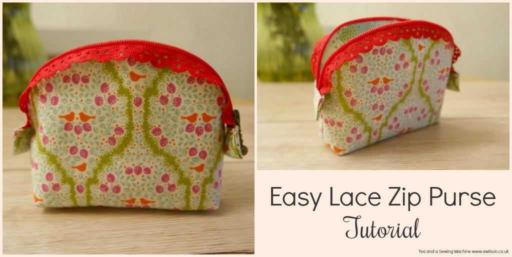 Easy Lace Zip Purse Tutorial -