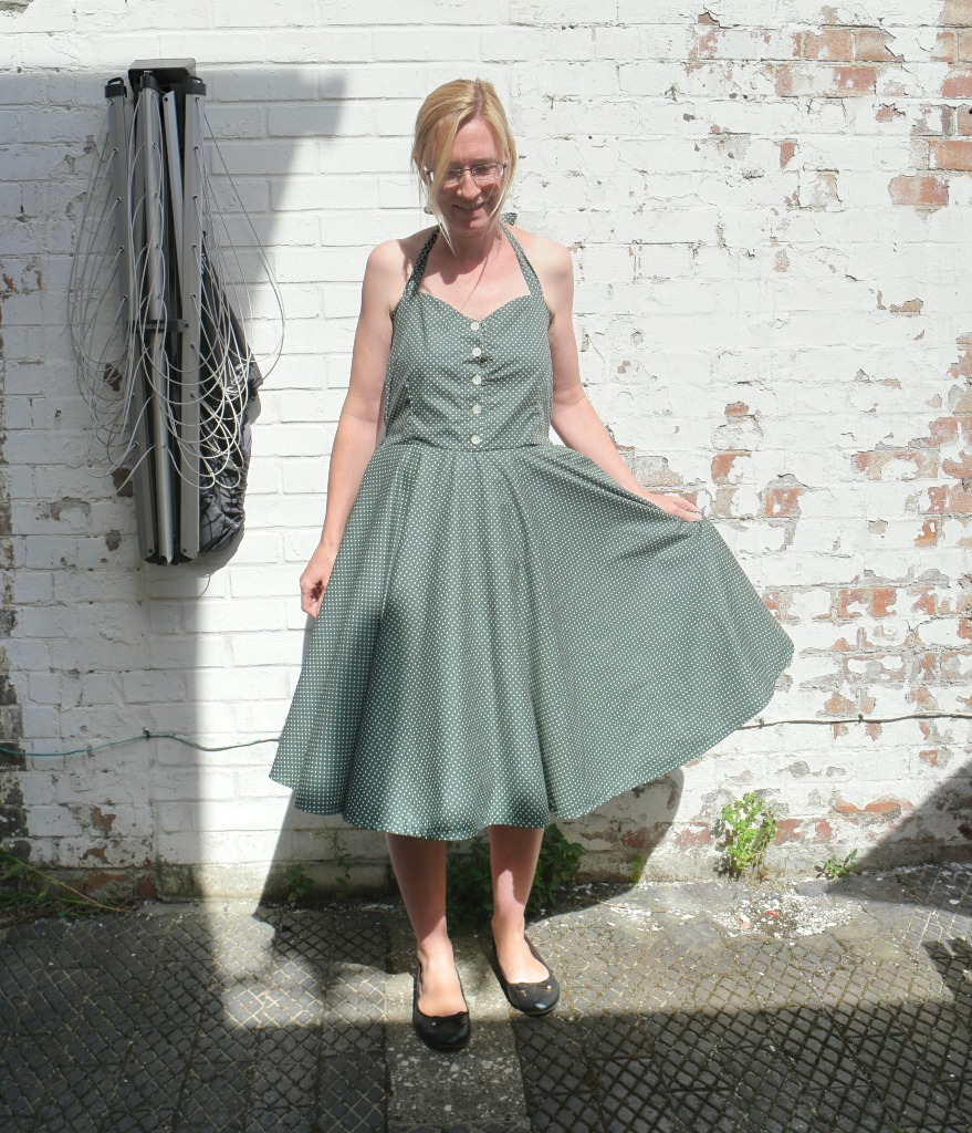 sewing a halter neck dress without a pattern sewing the dress
