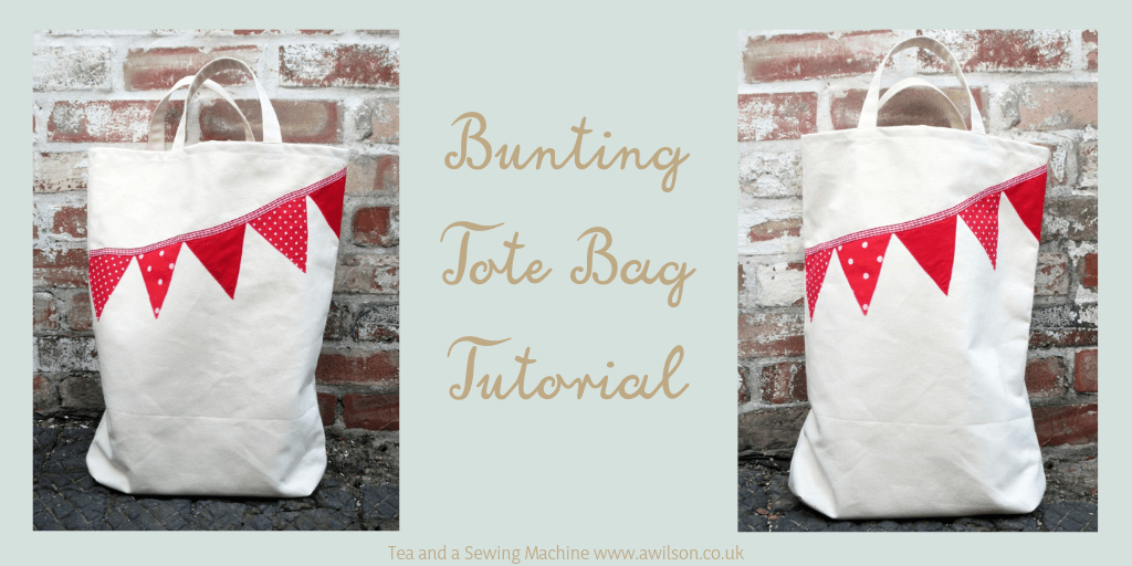 bunting tote bag tutorial