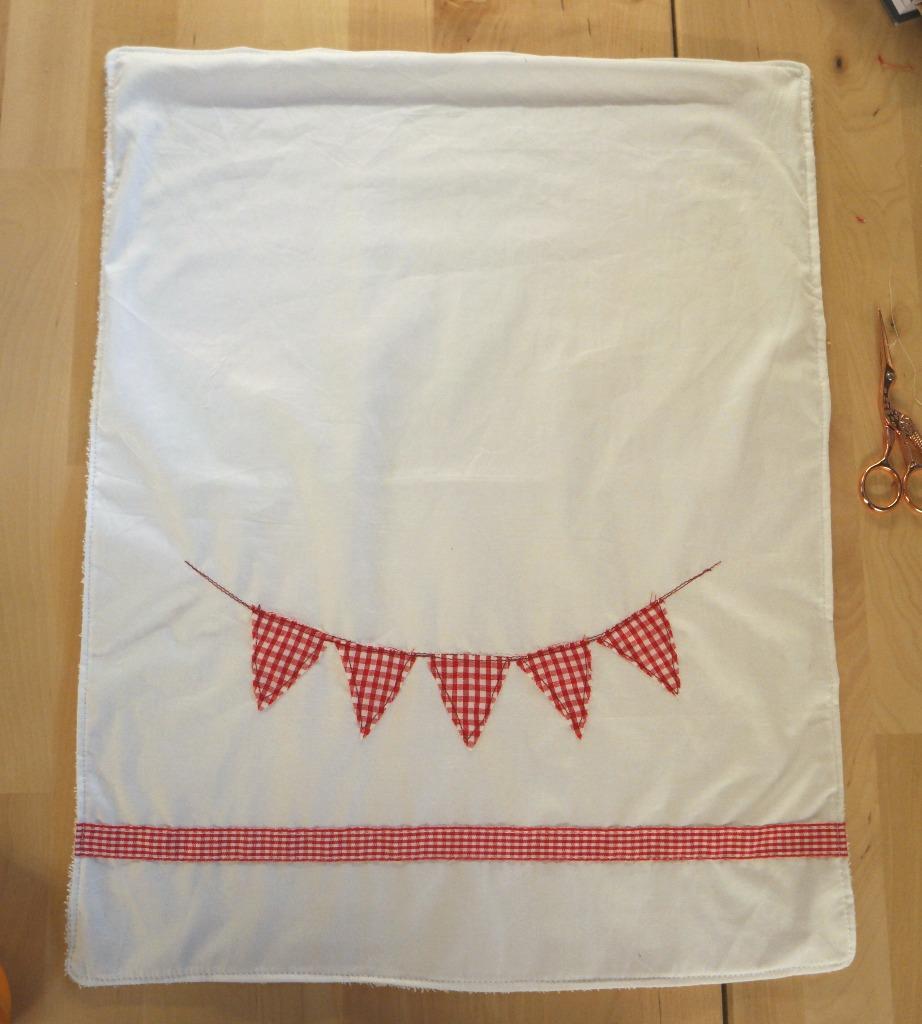 diy bunting tea towel