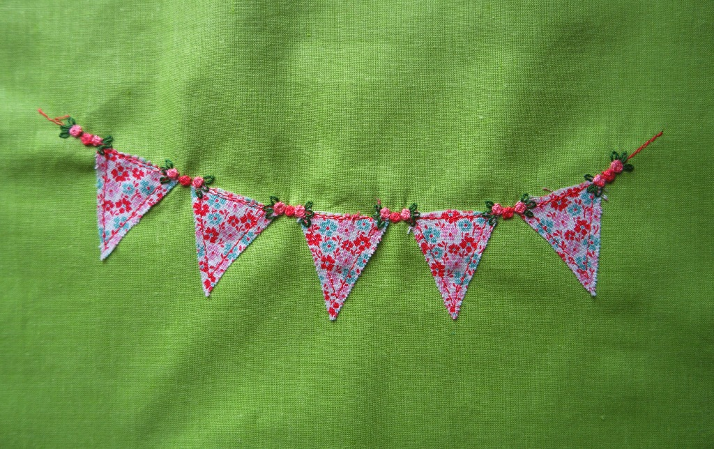 ideas for bunting embroidery