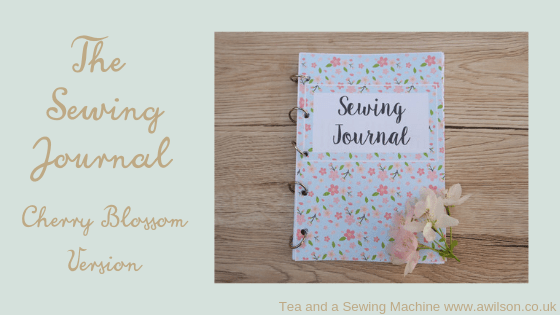 sewing journal cherry blossom version