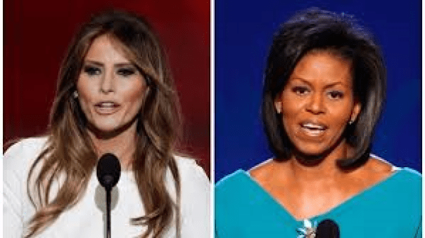 Melania and Michelle Picture