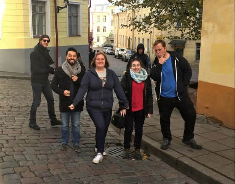 The crew in Riga, Latvia