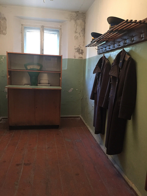 Museum of Genocide Victims in Vilnius, Lithuania. KGB Museum. The Guardroom.