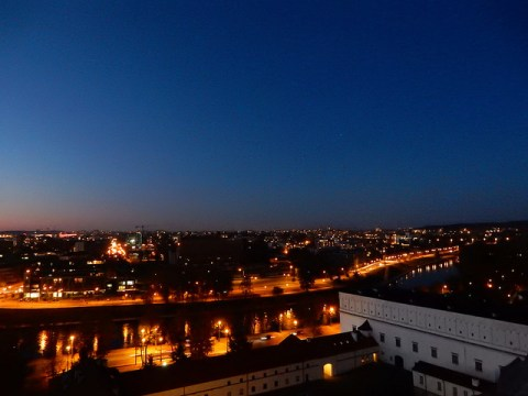 Sunset over Vilnius, Lithuania. From Gediminas' Tower.